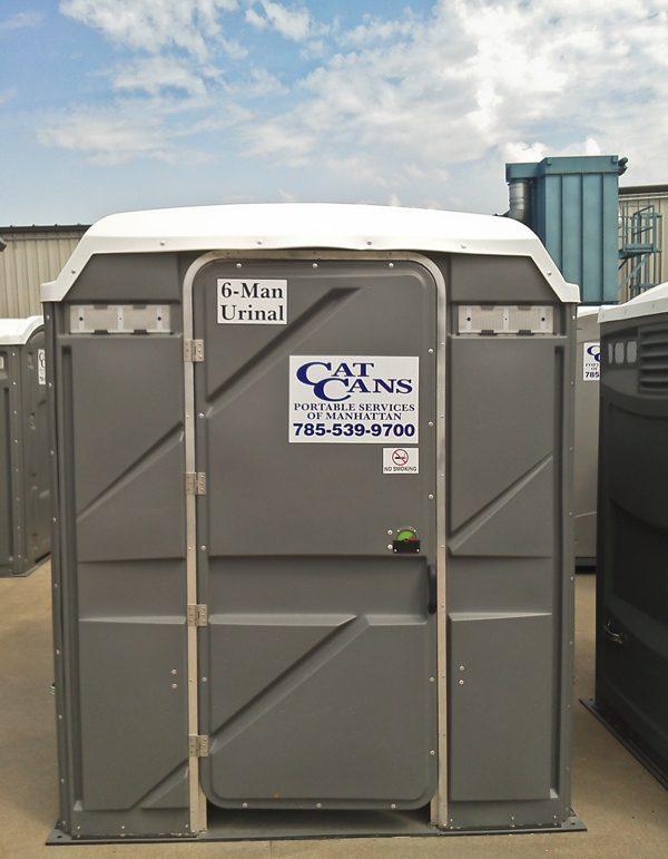 six man urinal outside
