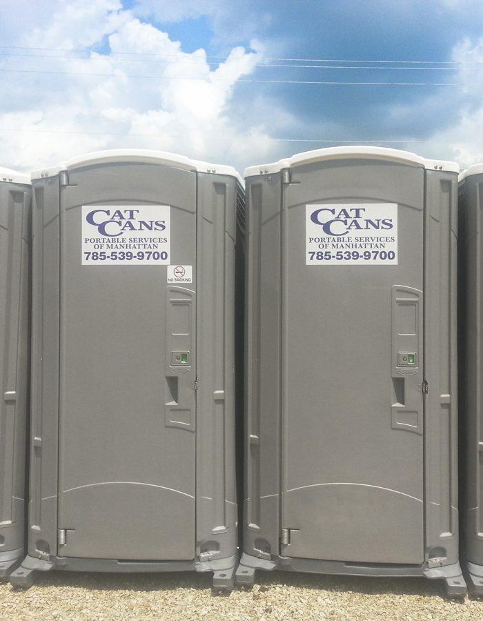 standard portable restroom outside