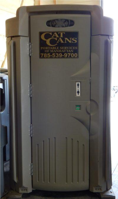 executive portable restroom outside
